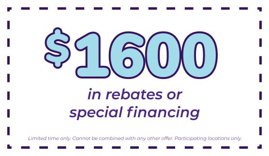 up to $1600 rebates