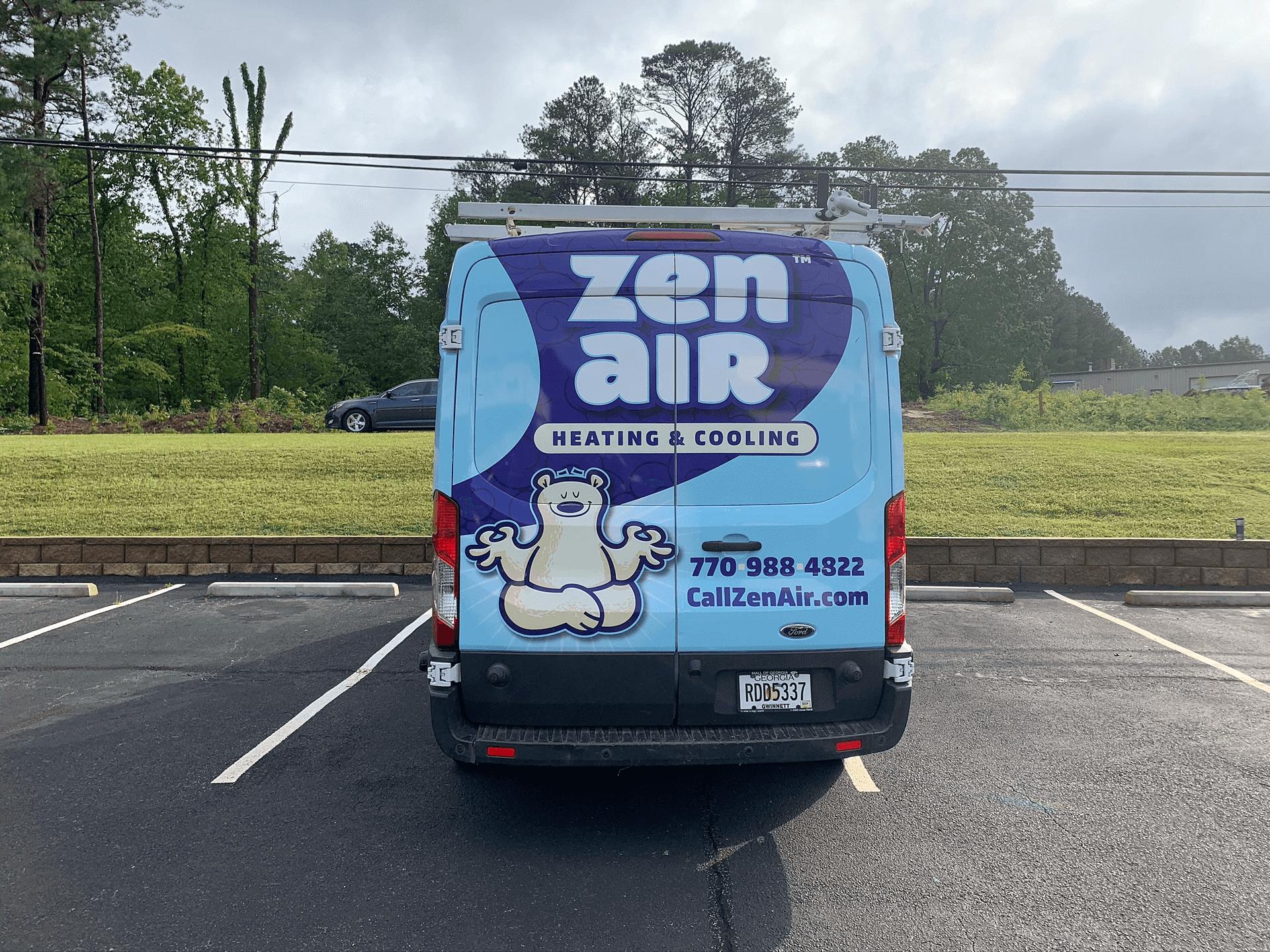 HVAC company van