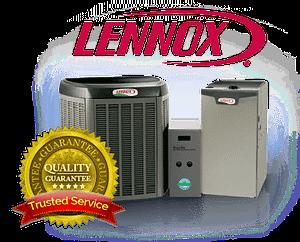 lennox quality guarantee & trusted service logo